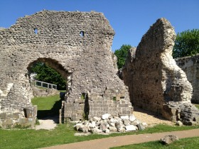 Lewes Priory in the Spring